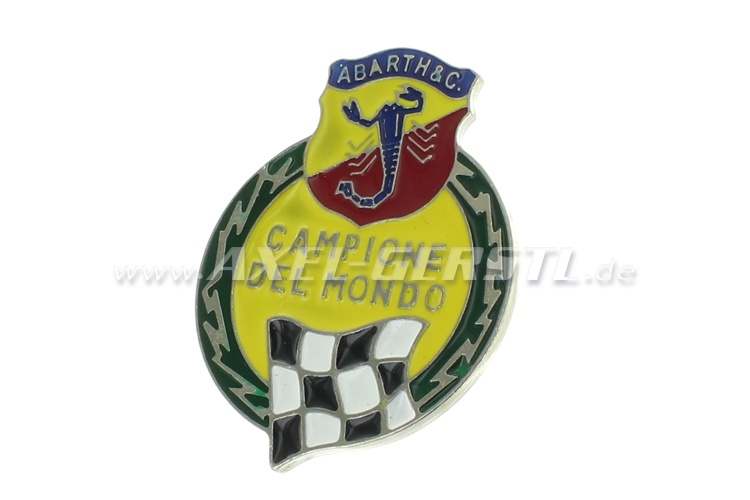 Rear badge Campione del Mondo, 70 x 50 mm