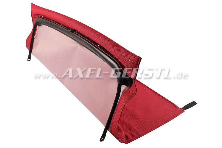Convertible top w. front bow + middle stick, red