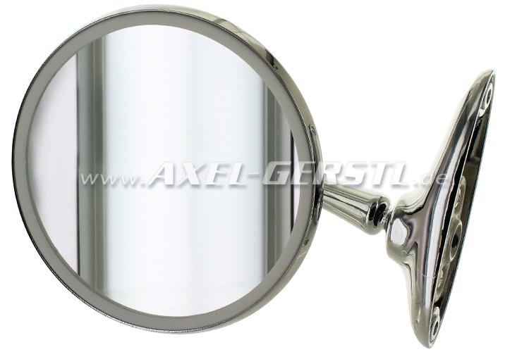 Seitenspiegel, Türmontage chr. re./li. 110mm rund/langer Arm