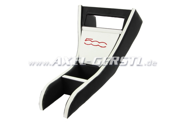 Radio housing 500 black & white imitation leather cover