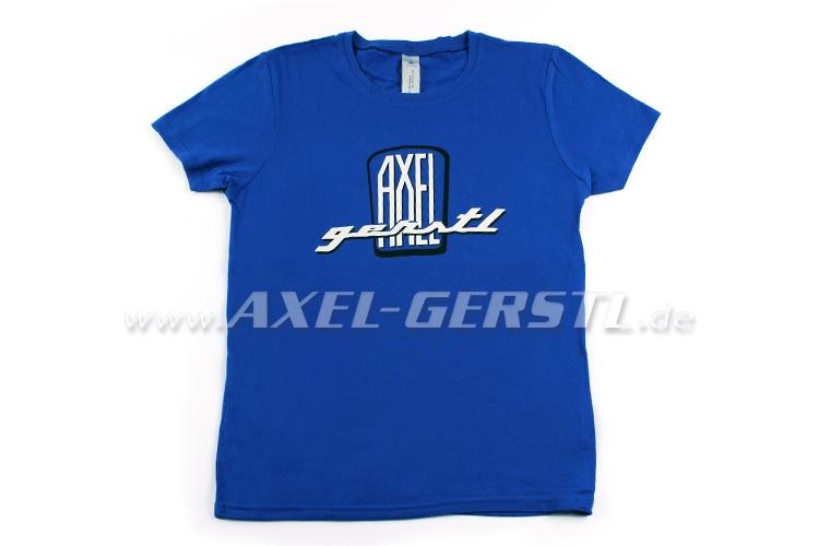 Female-T-shirt Axel Gerstl Classic Logo(blue shirt) size S