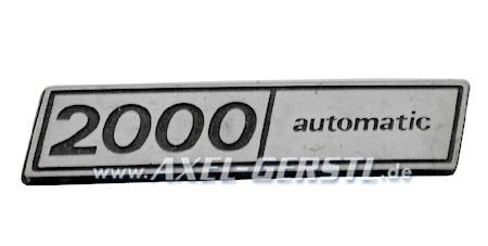 SoPo: Schriftzug 2000 automatic, Metallemblem
