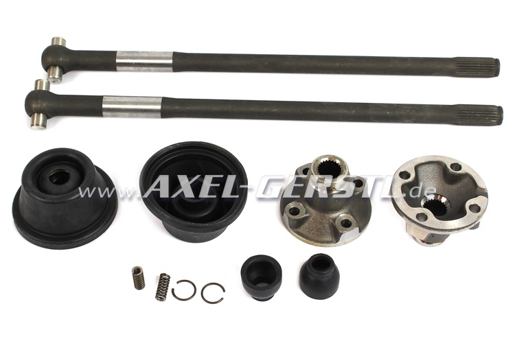 Set of drive shafts,packings & hardened sliding pieces, 19mm