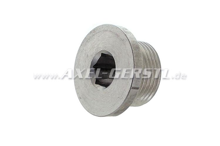 Oil drain plug for aluminum oil pan
