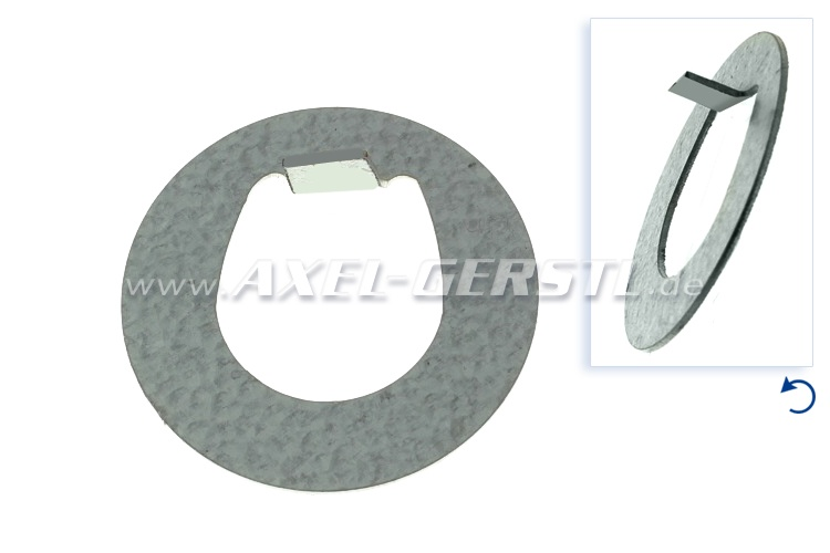 Safety plate for crank shaft nut