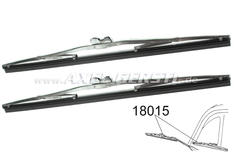 Set of wiper blades, stainless steel