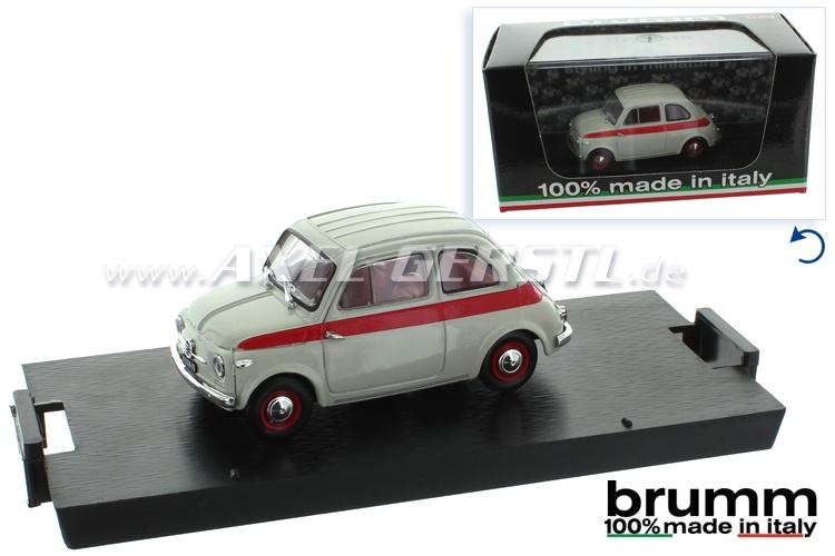 Modello dauto Brumm Fiat nuova 500 Sport, 1:43