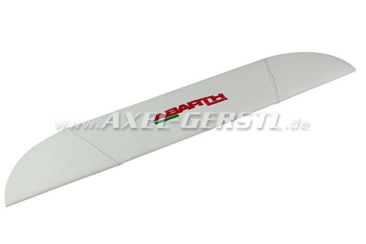Hatrack ABARTH, white/red, imitation leather cover