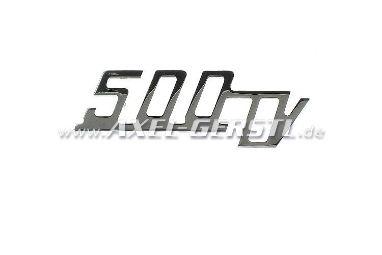Emblème arrière 500 TV pour capot