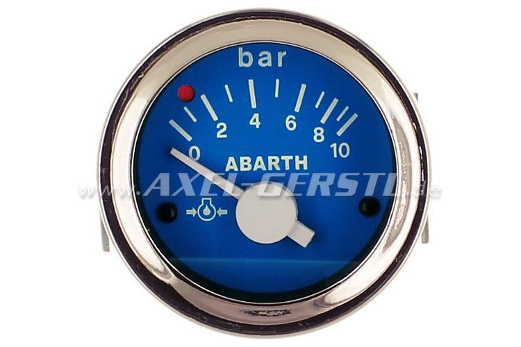 indicateur de pression d 39 huile abarth 52mm cadran bleu fiat 500 600 divers fiat 500. Black Bedroom Furniture Sets. Home Design Ideas