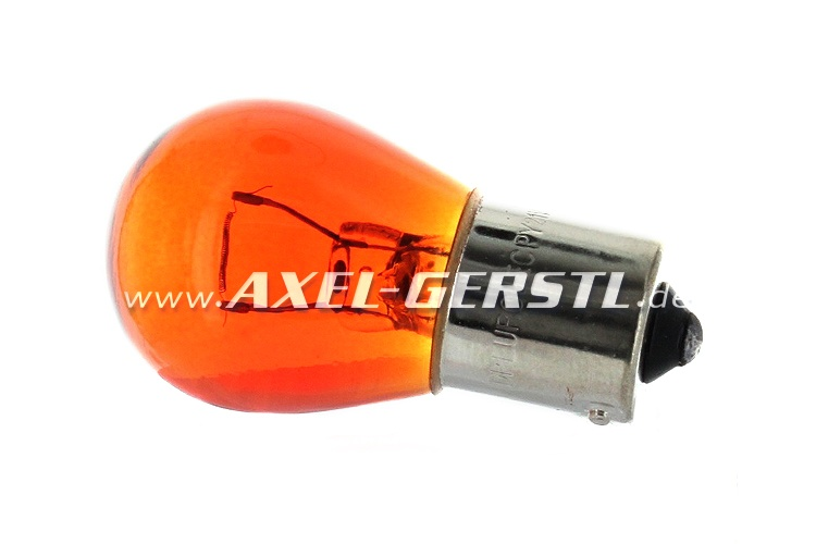 Bulb for turn signal 12 V/21 W, yellow