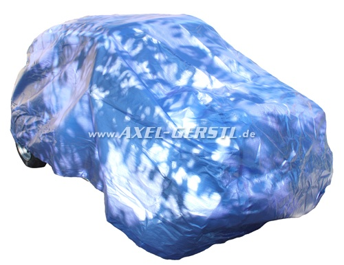 Housse voiture adaptable, bleu irisé