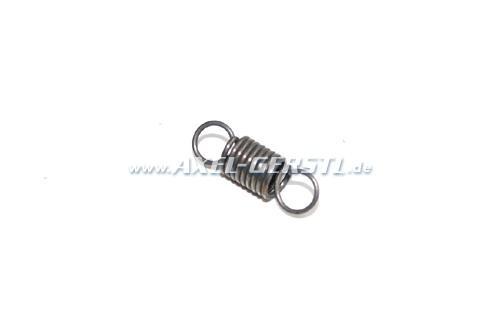 Ignition-distributor adjustment-spring