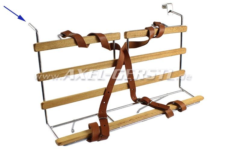 SoPo: Gepäckträger für Motorhaube, Chrom/Holz, zum Einhängen