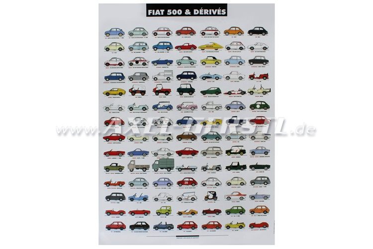 Poster Fiat 500 & derivatives