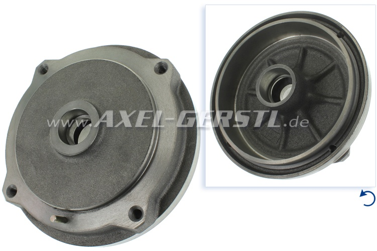 Brake drum, front, pitch circle 190 mm / d = 170 mm