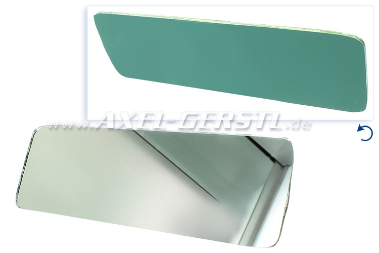 Rear view mirror glass, spare glass panel