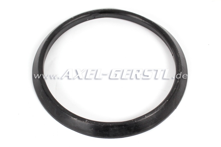 Rubber seal for headlamp rim