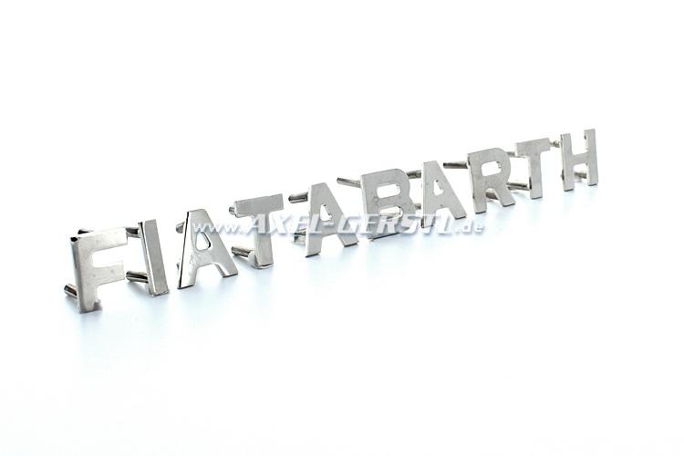 Heckemblem Fiat Abarth, in Einzelbuchstaben, 20 mm
