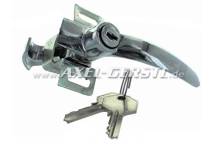 Engine cover lock chrome, original form with 2 keys