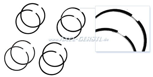 Set of piston rings (for 2 cylinders), oversize 0.4