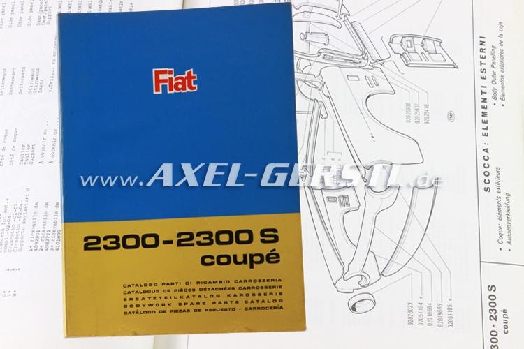 SoPo: Ersatzteilkatalog Karosserie Fiat 2300-2300S Coupé