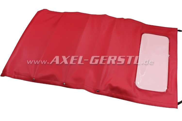 Convertible top, with front bow & middle stick (long), red