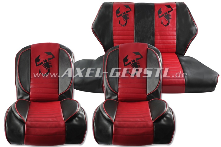 Seat covers red/black Scorpione, artificial leather