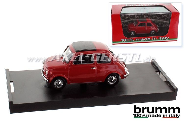 Modellauto Brumm Fiat 500 F, 1:43, rot / geschlossen
