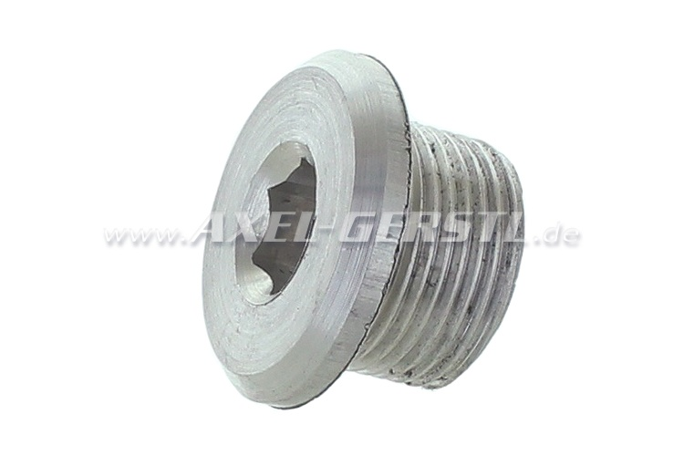 Oil drain plug for aluminum oil pan