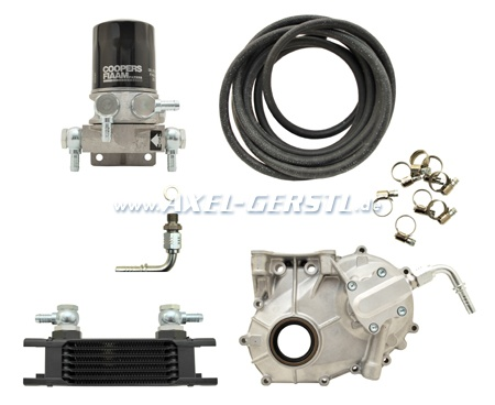 Logotech oil cooler kit, type 2 with thermostat & oil filter