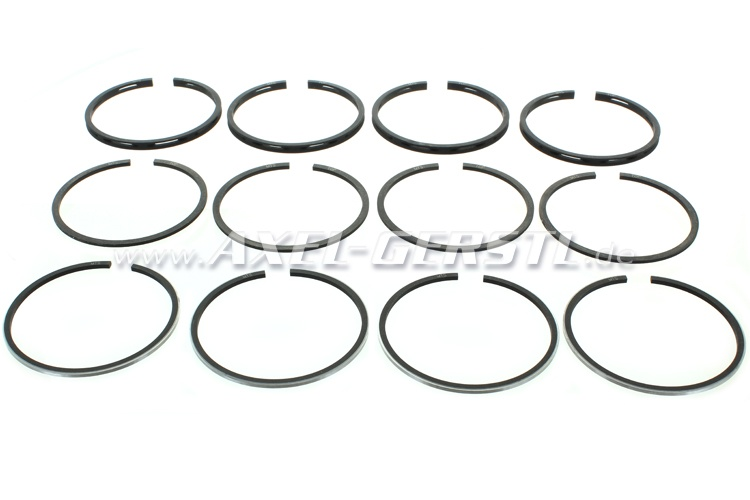 Set of piston rings