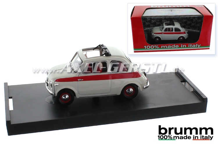 Modello dauto Brumm Fiat 500 N Sport 2a, 1:43, aperto