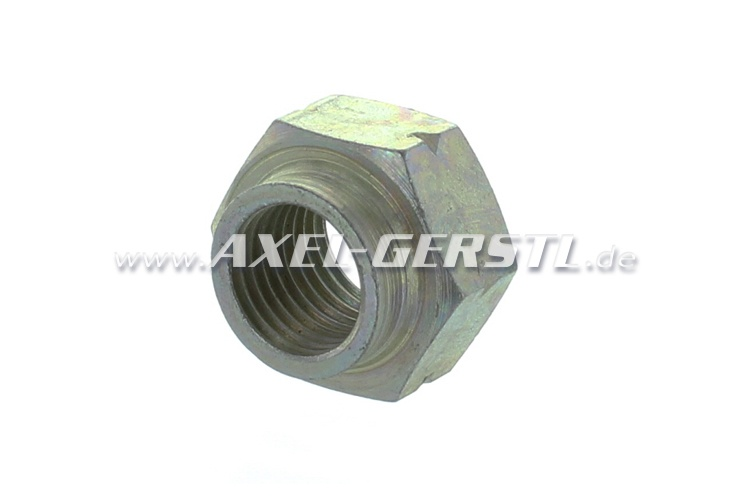 Axle stub nut, left-hand thread (right side)