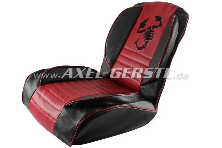 sitzbez ge rot schwarz skorpion kunstleder kpl vo. Black Bedroom Furniture Sets. Home Design Ideas