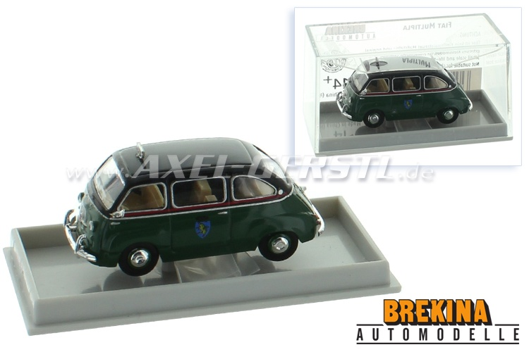 Modello dauto Brekina Drummer Fiat 600 Multipla Taxi Turin