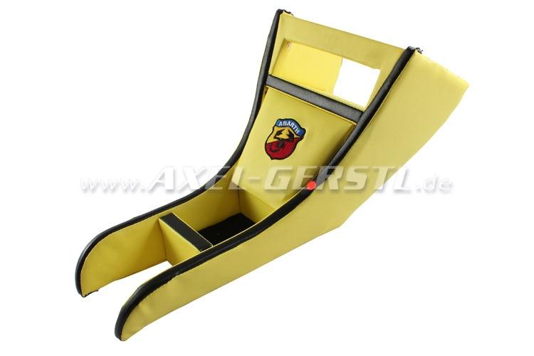 SoPo: Radio-/Mittelkonsole ABARTH, Kunstleder gelb/schwarz
