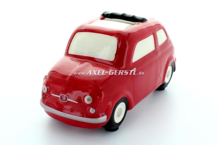 Salvadanaio Fiat 500 Modell ca. 1:24, rosso