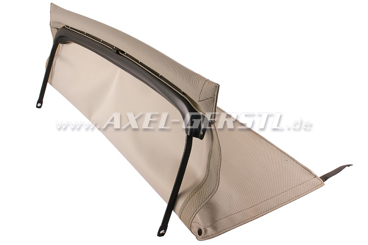 Convertible top w. front bow + middle stick, beige, type 2