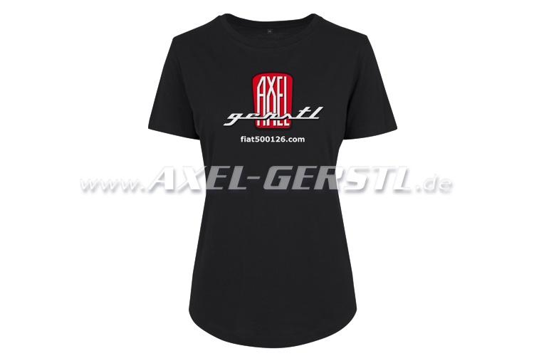 Damen-T-Shirt, Motiv Axel Gerstl Classic Logo (schwarz)