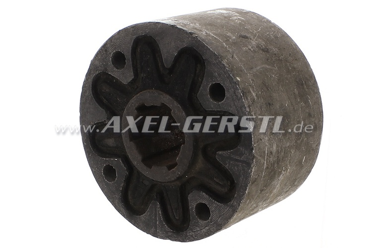Axle coupling, coarse pitch