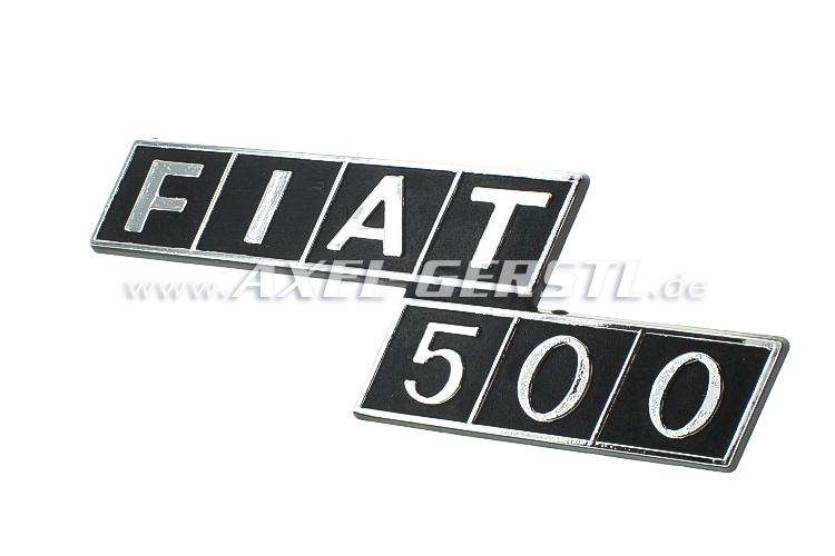 Emblema posteriore FIAT 500 in plastica