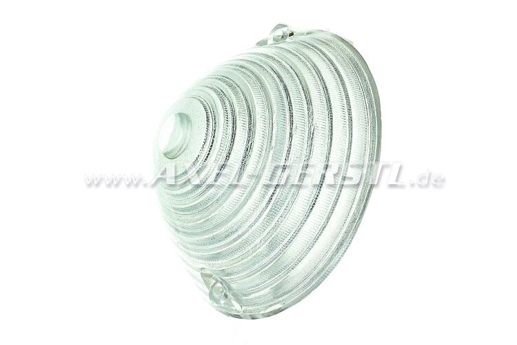 Blinkleuchtenglas weiß
