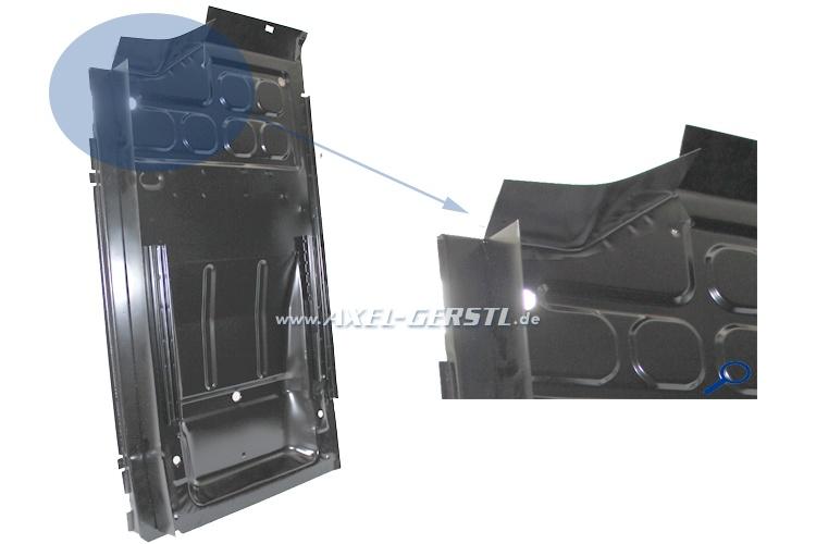 Pavimento cpl. con frammento sottoporta interna,laccato, sx