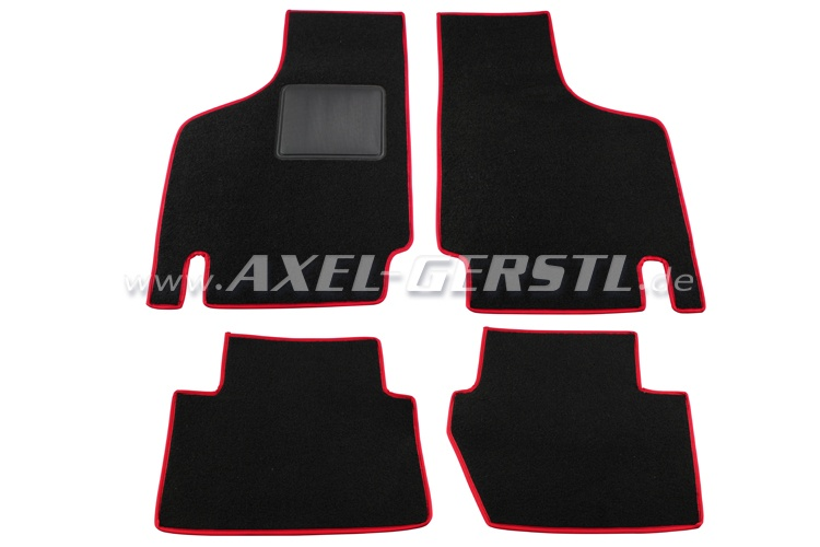 Set of foot-mats 4pc. exact fit (red/black)