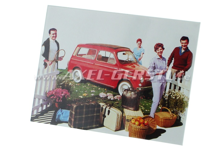 Magnet Fiat 500 - Motiv Picknick im Garten