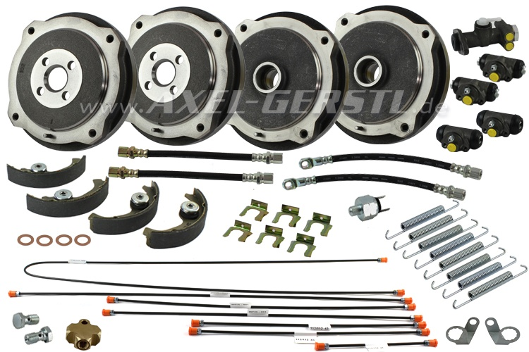 CLASSIC FIAT 500 BRAKE SHOES KIT FRONT or REAR BRAND NEW HIGH QUALITY
