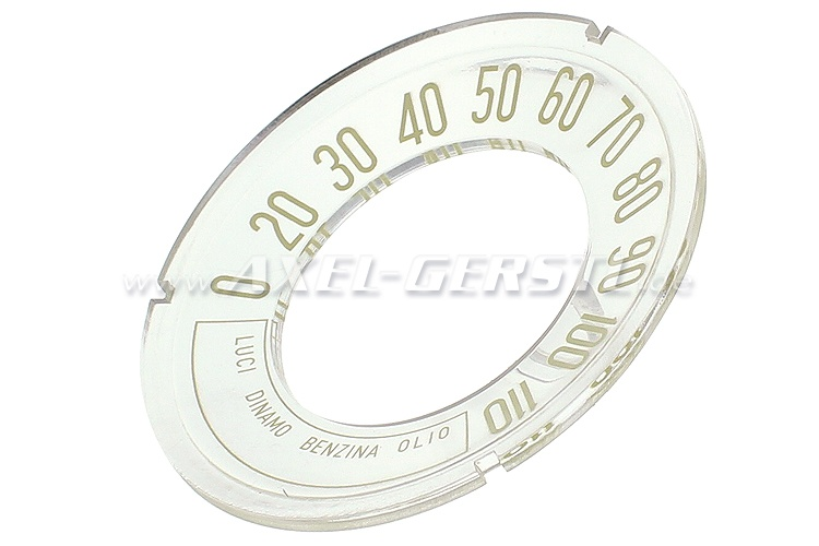 Quadrante per tachimetro originale, concavo, 110 km/h