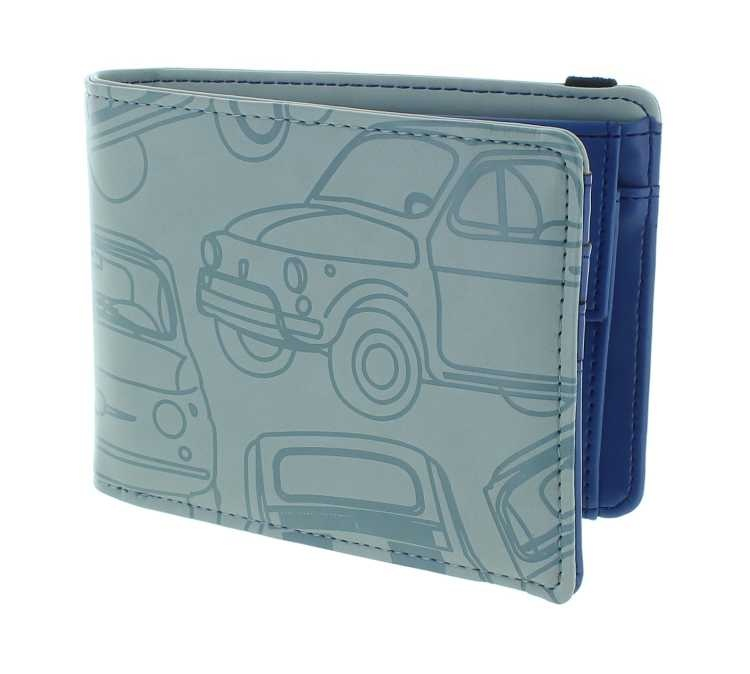 Purse /wallet Fiat 500,imitation leather,12x9cm,grey