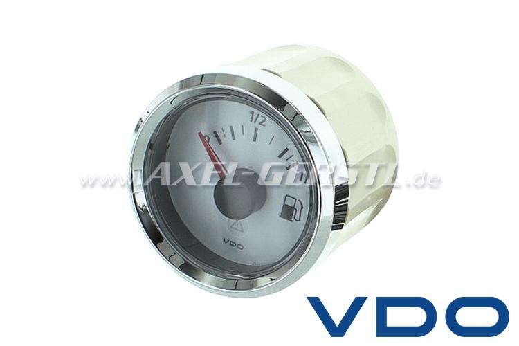 Indicatore benzina VDO 52 mm, quadrante bianco